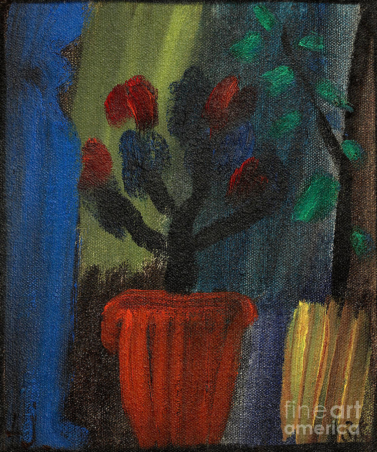 Azaleas And Bluegreen Sound Painting