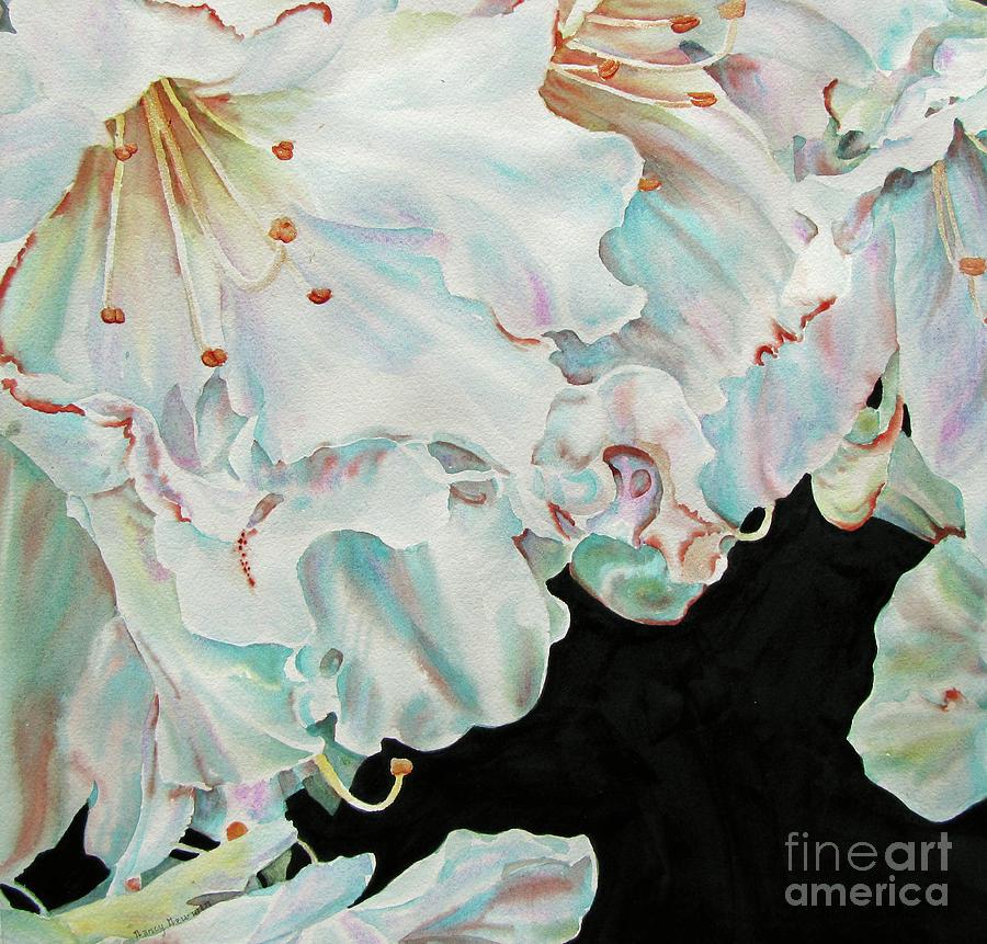 Azaleas Painting - Azaleas-in-italy by Nancy Newman