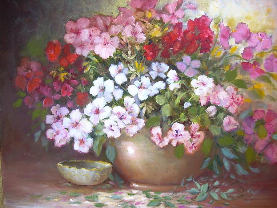 Floral Painting - Azaleas by Naomi Dixon