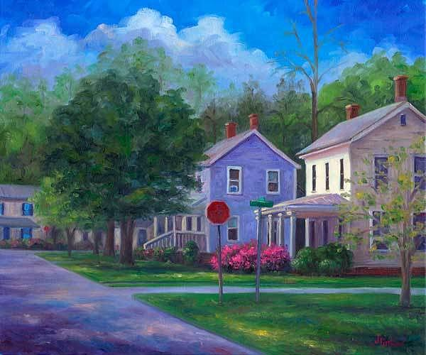 Azaleas Painting - Azaleas On Broad Street by Jeff Pittman