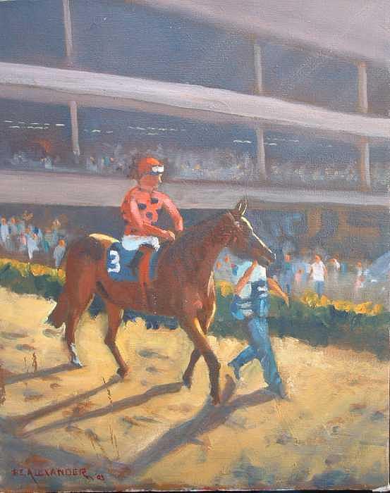 AZARI  a sure winner Painting by Bryan Alexander