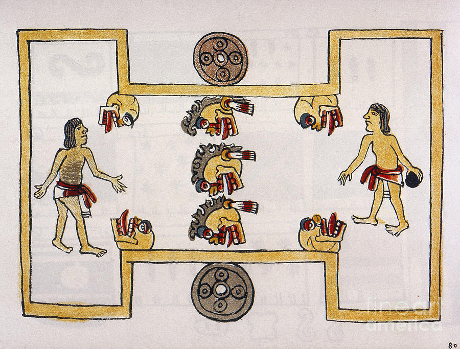 16th Century Photograph - Aztec Ball Game by Granger