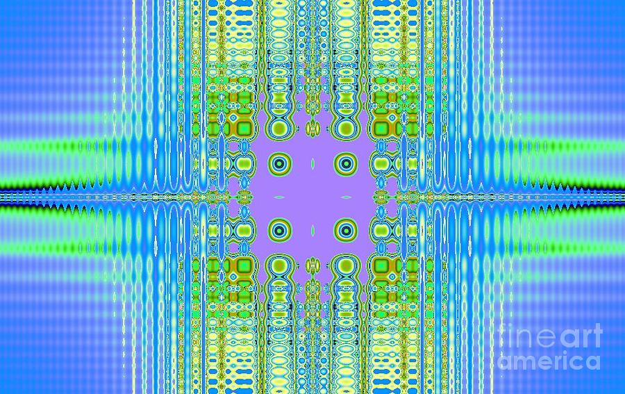 Abstract Digital Art - Aztec Computer by Thomas Smith