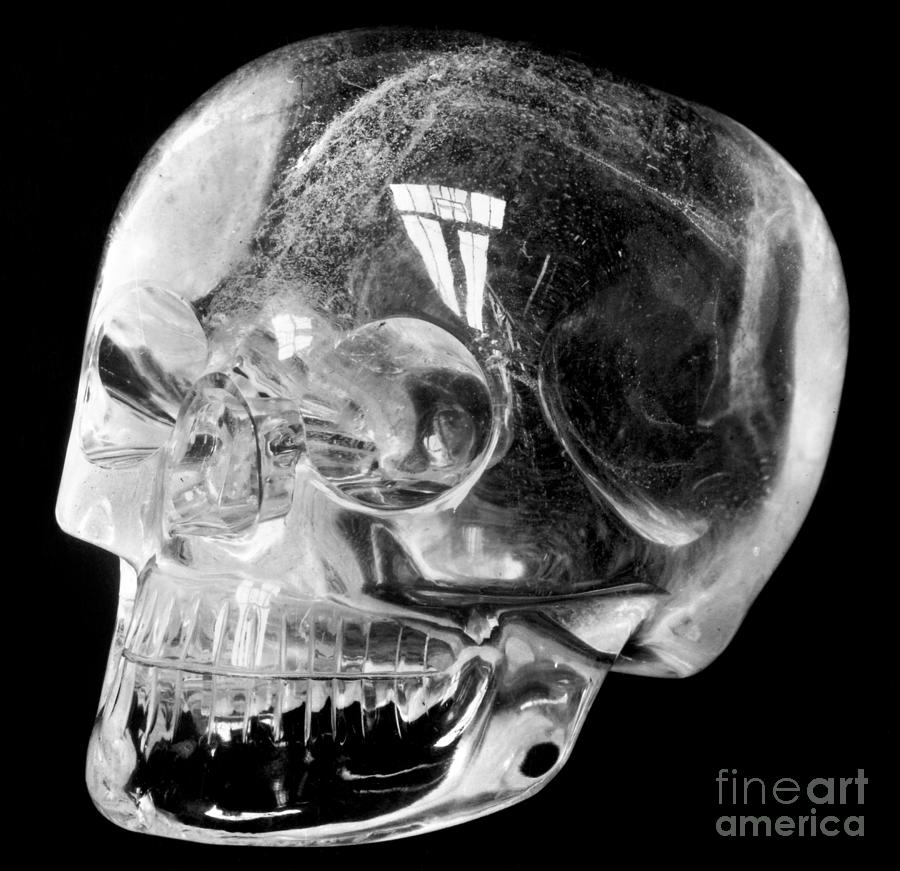 15th Century Photograph - Aztec Rock Crystal Skull by Granger