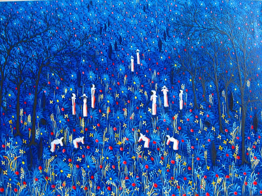 Azul Painting by Frantz Petion