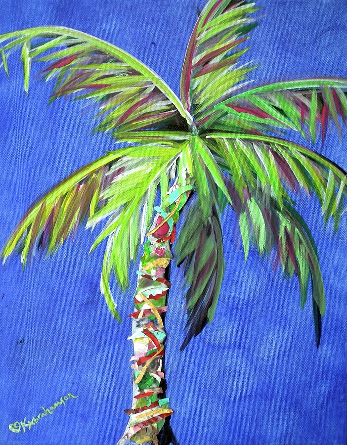 Blue Painting - Azul Palm by Kristen Abrahamson