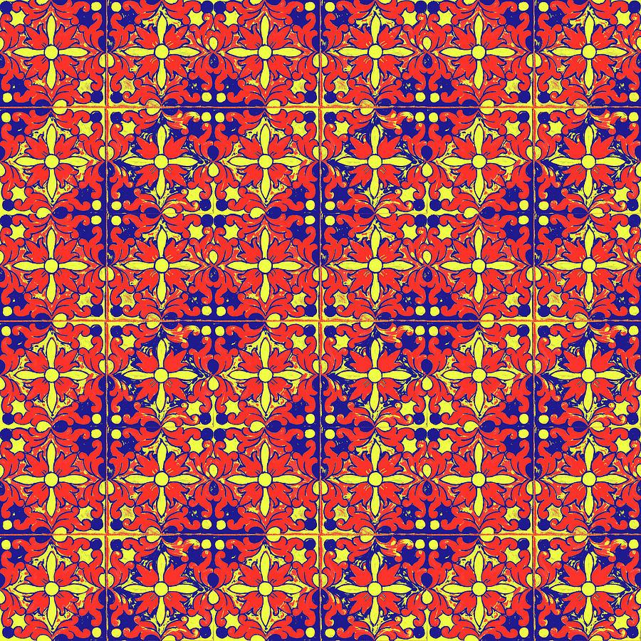 Azulejos Magic Pattern - 10 Mixed Media