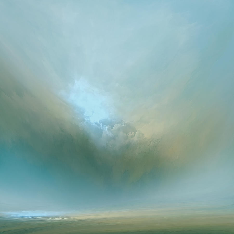 Atmosphere Mixed Media - Azure Mist by Lonnie Christopher