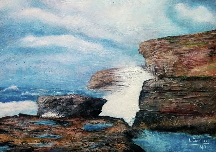 Azure Window - After Painting by Anthony Camilleri