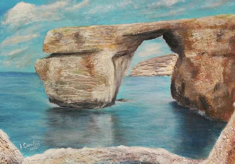 Azure Window - Before Painting by Anthony Camilleri