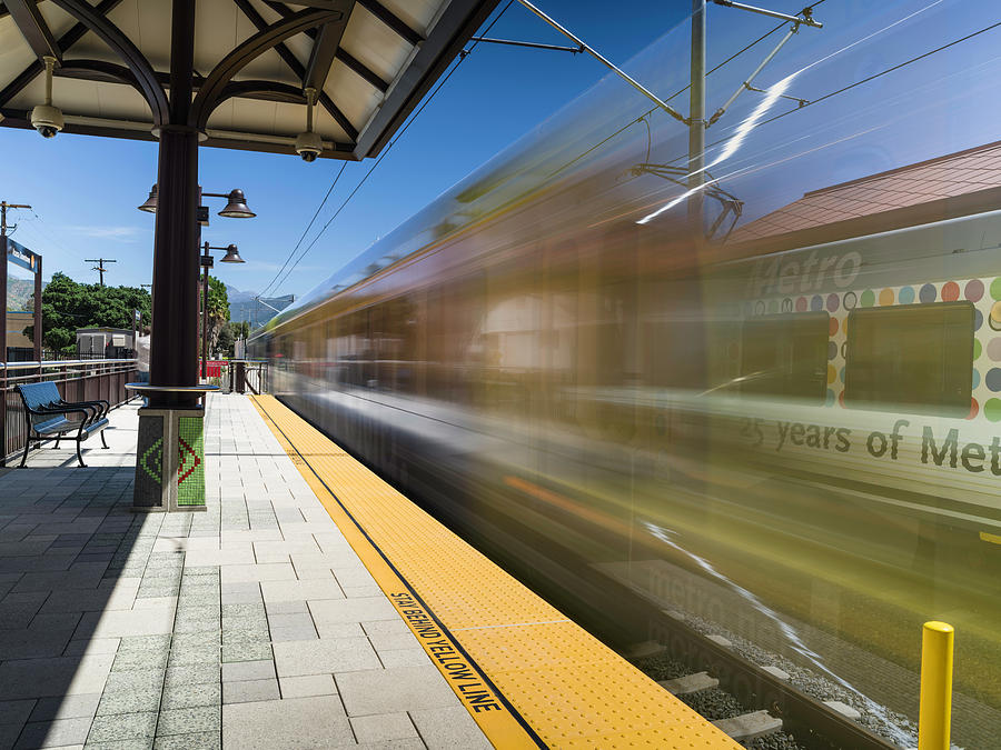 Los Angeles Metro Photograph - Azusa Downtown Metro Station by Mike Herdering