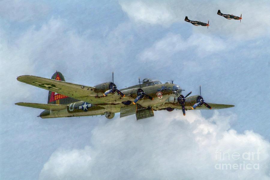 B17 Digital Art - B-17 Flying Fortress Bomber  by Randy Steele