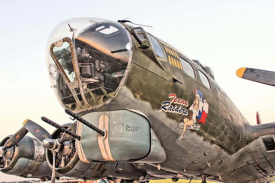 Airplane Photograph - B-17 Texas Raiders by Michael Daniels