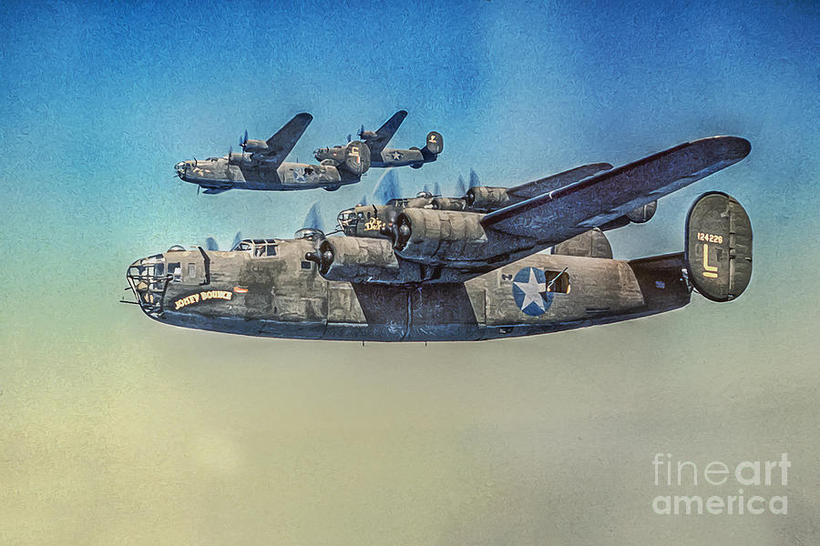 Consolidated B-24 Liberator Photograph - B-24 Liberator Bomber by Randy Steele
