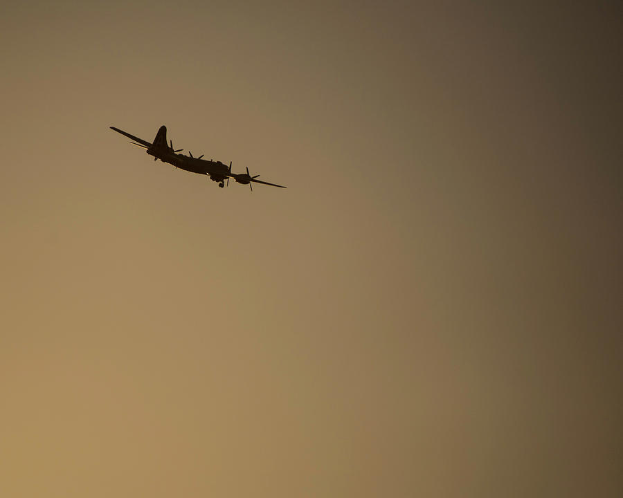 B-29 Airplane at Sunrise - Fifi by Printed Pixels