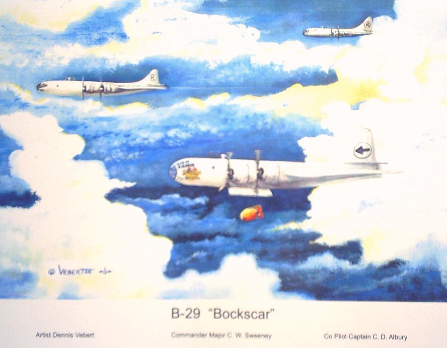 Ww Ii Painting - B-29 Bockscar by Dennis D Vebert