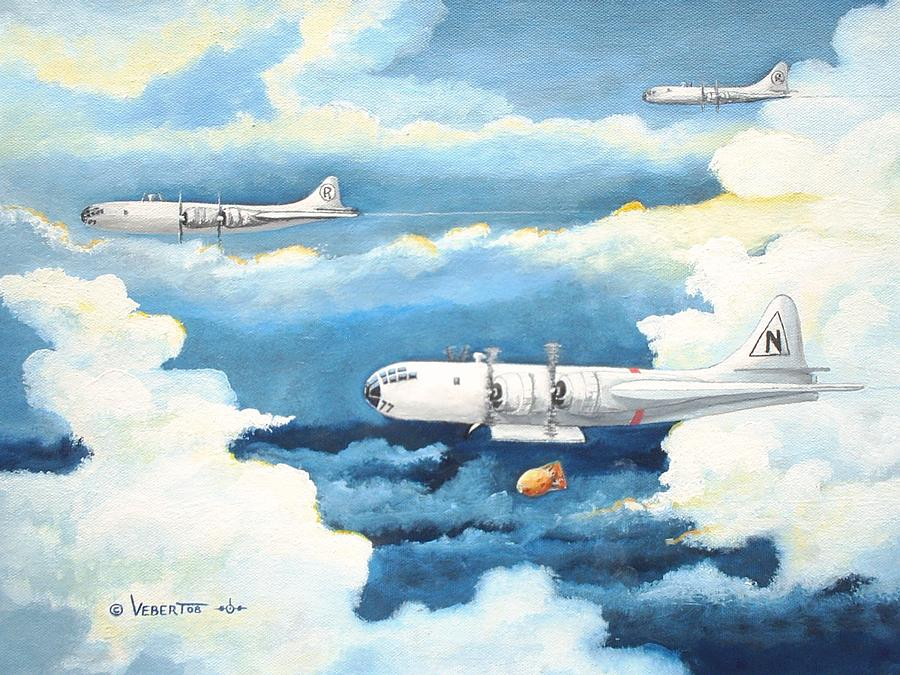 Ww Ii Painting - B-29 Bockscar The Way It Looked On Mission by Dennis D Vebert