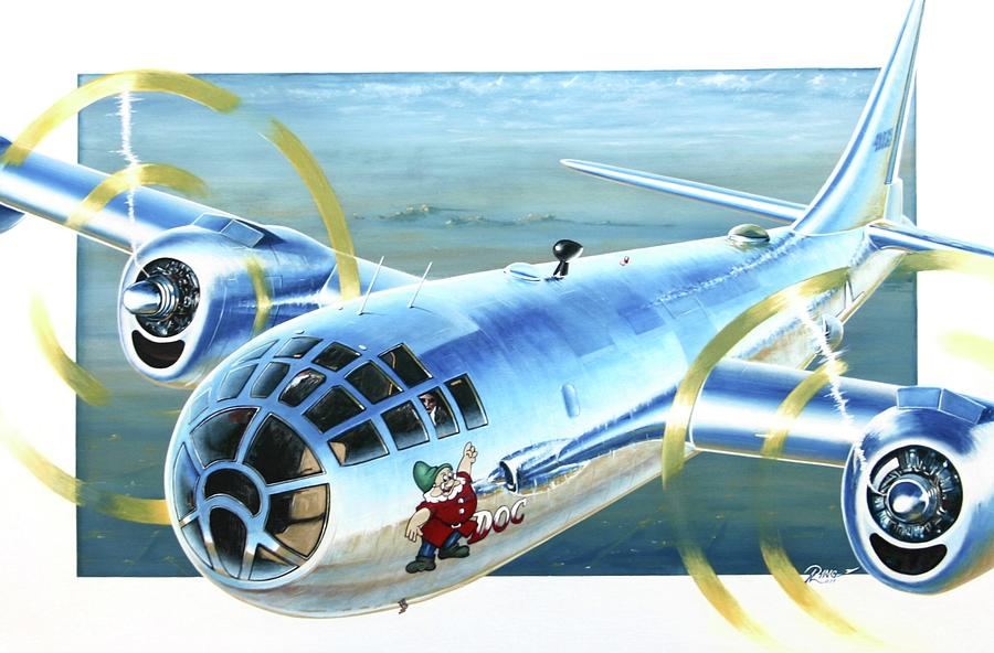 B-29 Painting - B-29 Doc by Peter Ring Sr