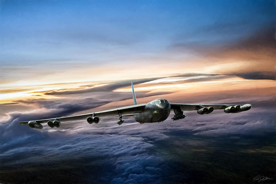 Aviation Digital Art - B-52 Inbound by Peter Chilelli