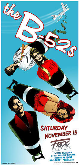 B-52's Painting - B-52s Tour Poster by Jefferson Wood