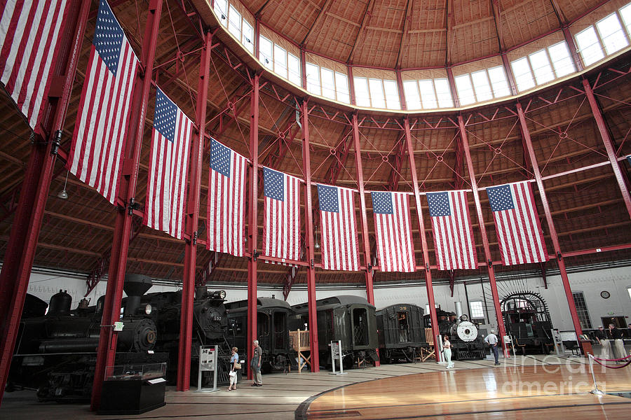 B&o Photograph - B And O Museum Roundhouse In Baltimore Maryland by William Kuta