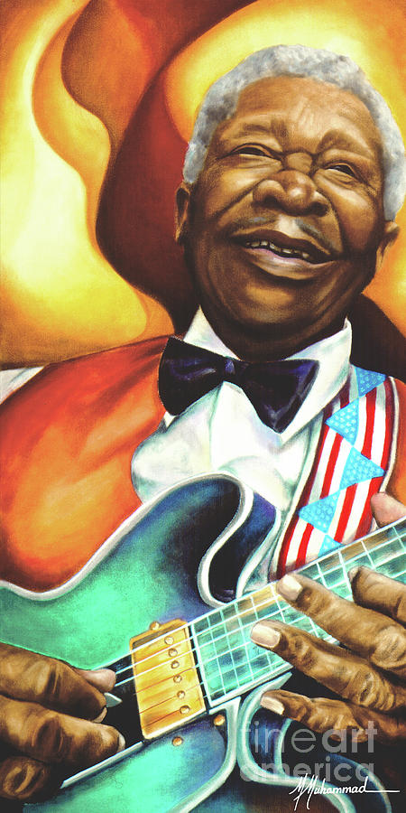 Musical Painting - B. B. King by Marcella Muhammad