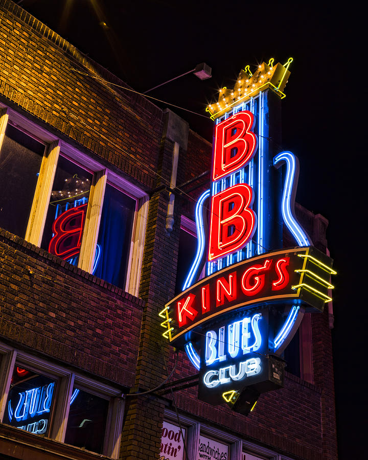 Memphis Photograph - B B Kings On Beale Street by Stephen Stookey
