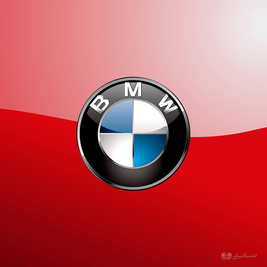 Bmw Logo Photograph - B M W Badge On Red  by Serge Averbukh