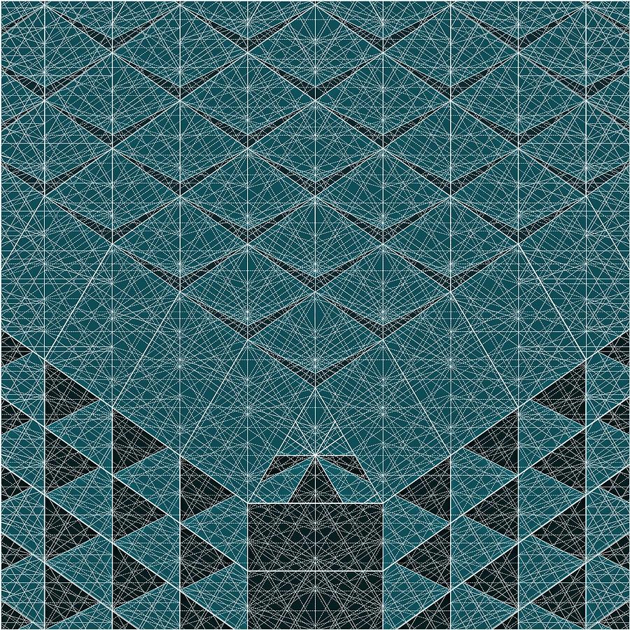 Concept Digital Art - B - N W B  -  Blue Netwireblast by Nenad Cerovic