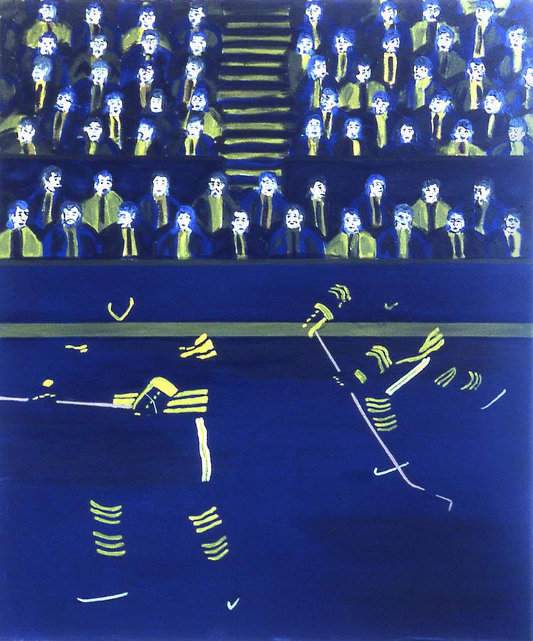 Ice Hockey Painting - B S by Ken Yackel