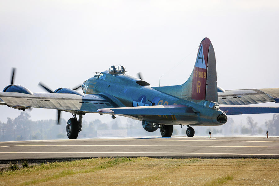 B17 Photograph - B17 Flying Fortress Cleared For Takeoff At Livermore by John King