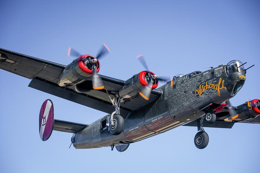 B24 Photograph - B24 Liberator Landing At Livermore by John King