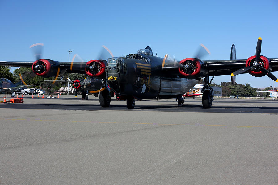B24 Liberator Start-up At Livermore Klvk Memorial Day Photograph by John King