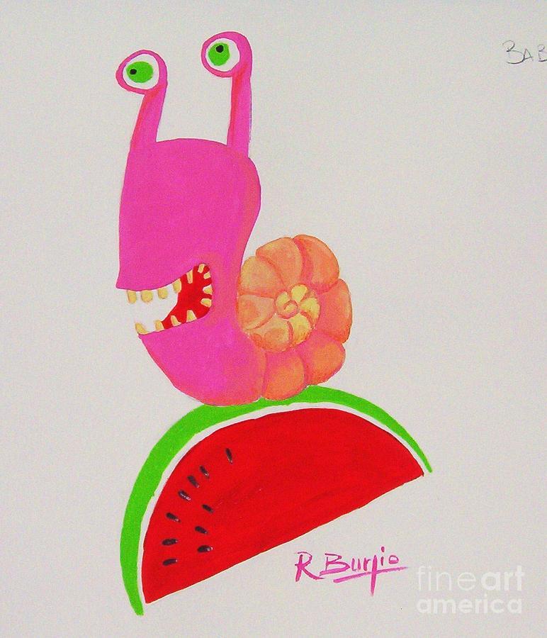 Animal Painting - Babbaluci by Raimondo Burgio