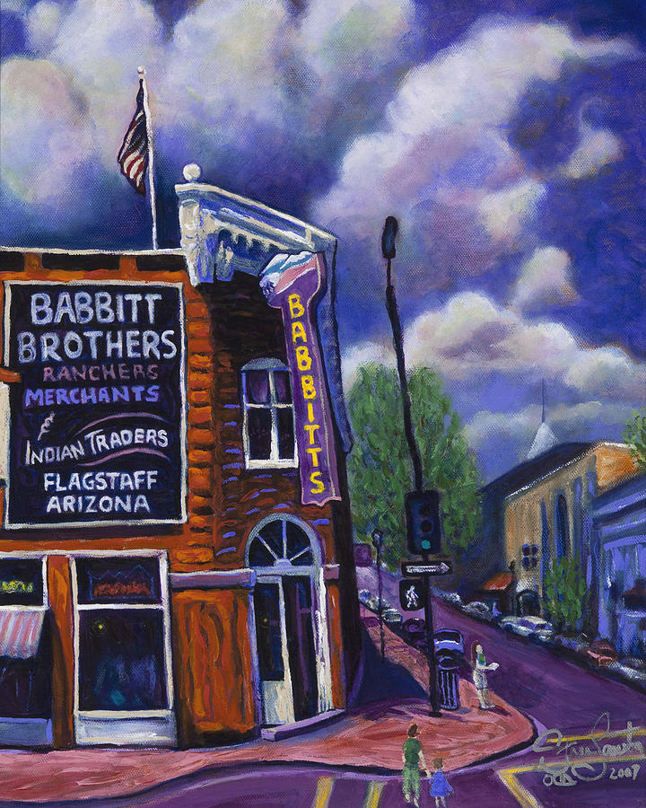Historic Painting - Babbitt Bldg. by Steve Lawton