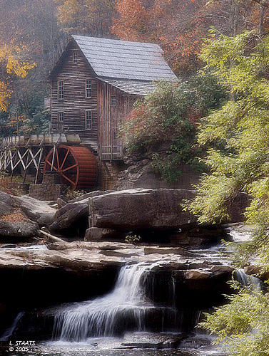 Babcock Grist Mill Photograph by Lawrence Staats