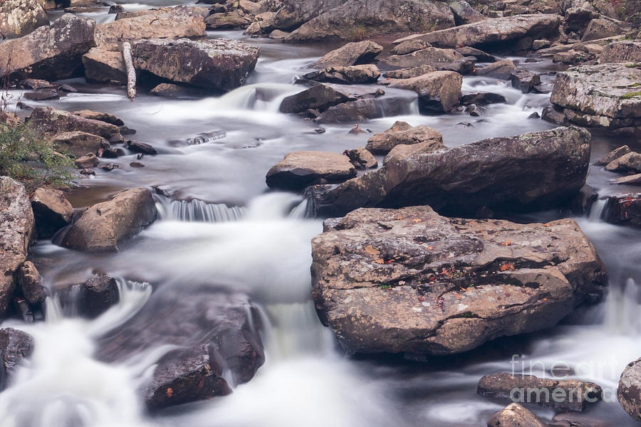 Landscape Photograph - Babcock Stream by Mel Petrey