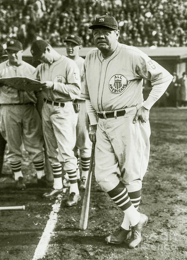 Babe Ruth Photograph - Babe Ruth All Stars by Jon Neidert
