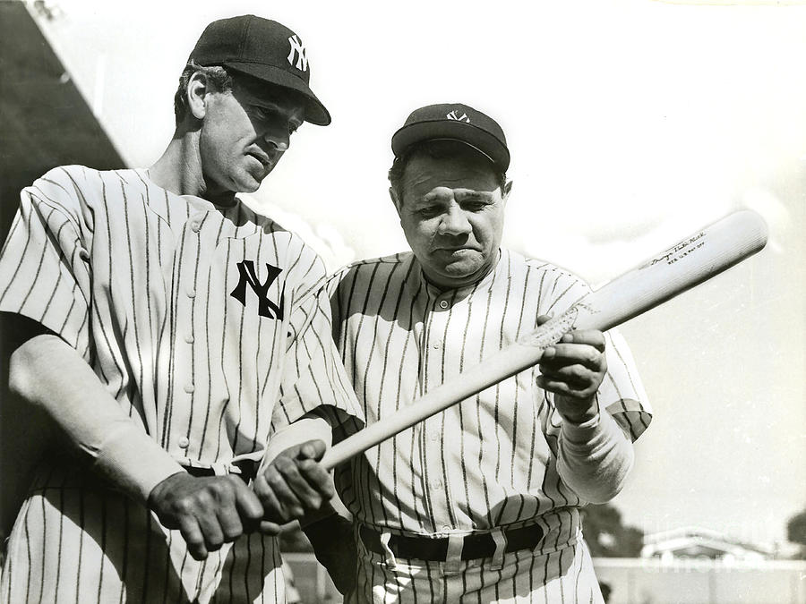 Babe Ruth Photograph - Babe Ruth and Lou Gehrig by Jon Neidert