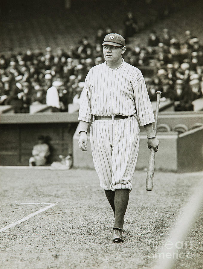Babe Ruth Photograph - Babe Ruth Going To Bat by Jon Neidert