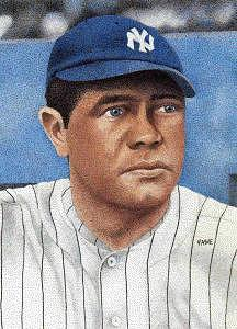 Babe Ruth Prints Painting - Babe Ruth by Rob Payne