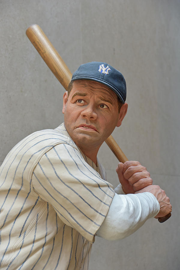 Sport Photograph - Babe Ruth Statue by Mike Martin
