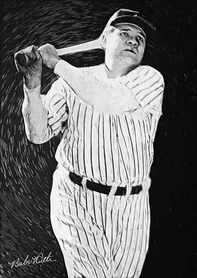Babe Ruth Digital Art