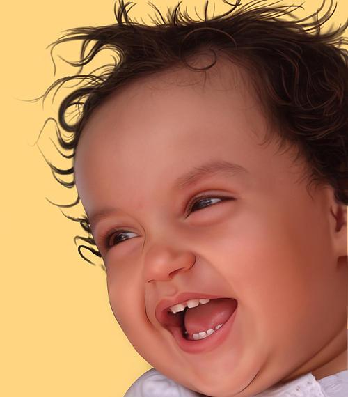 Baby Digital Art by Aadil Ahmed Siddiqui