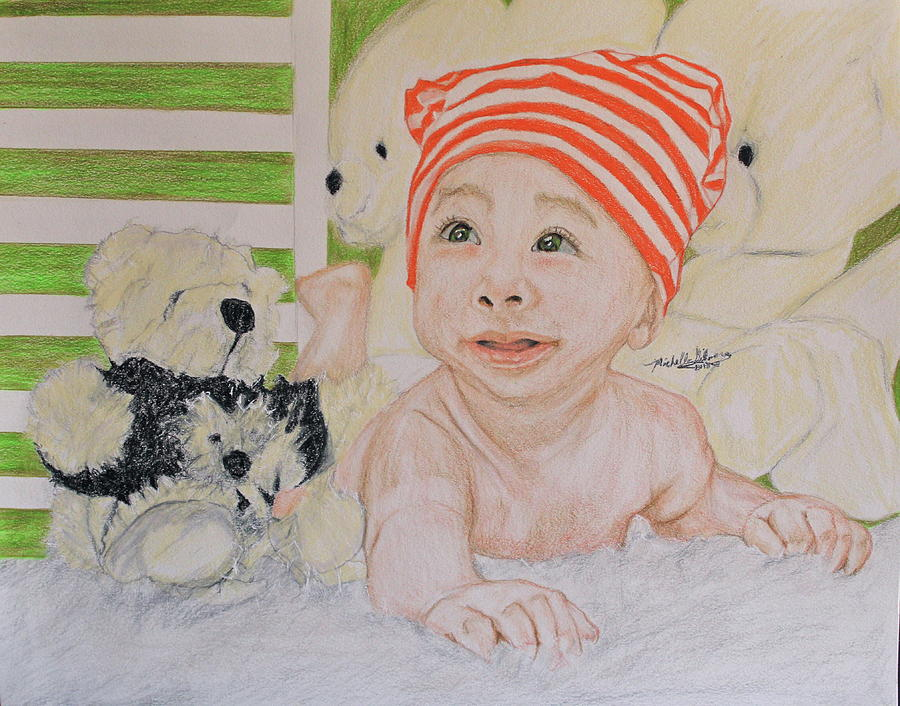 Baby And Stuff Bears by Michelle Gilmore