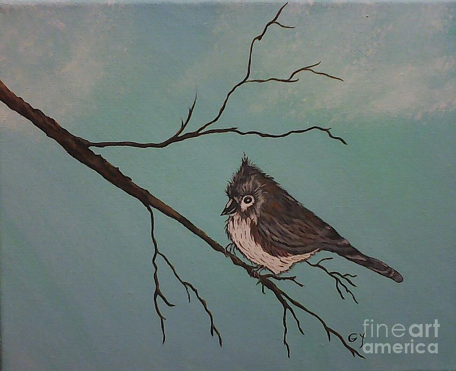 Bird Painting - Baby Bird by Ginny Youngblood