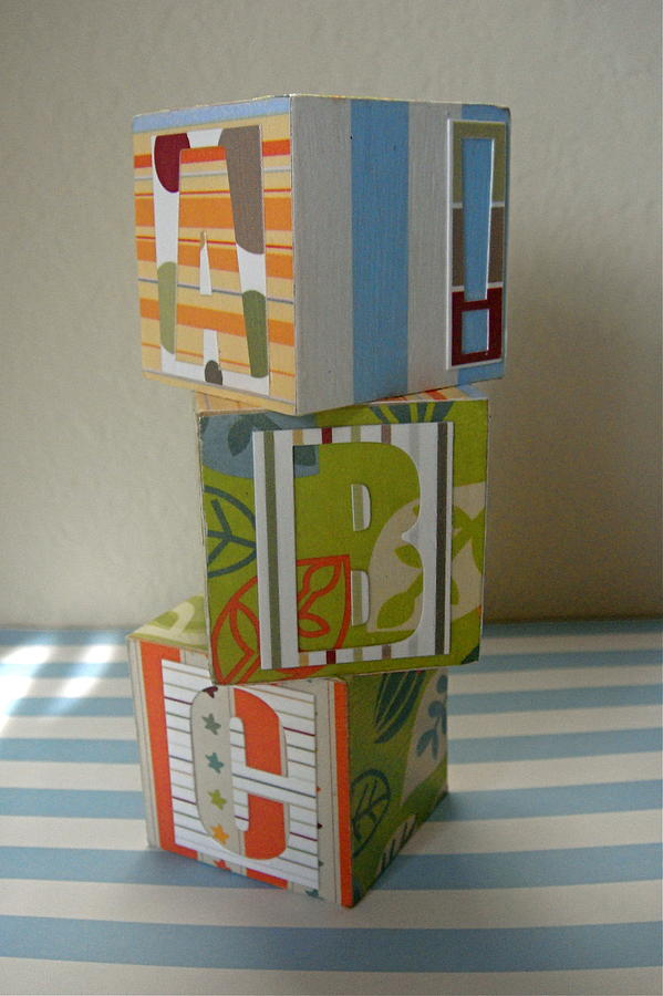 Abc Mixed Media - Baby Blocks by Dani Marie