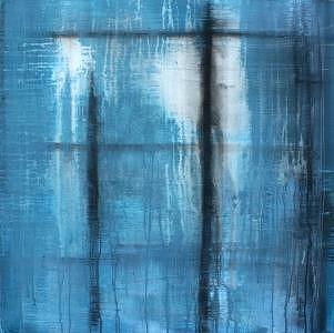 Abstract Painting - Baby Blue by Alli Royce Soble