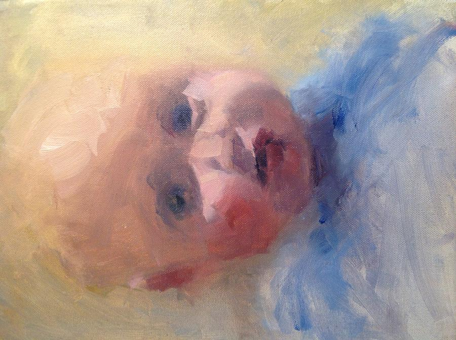 Baby Blue Eyes  Painting by Studio V