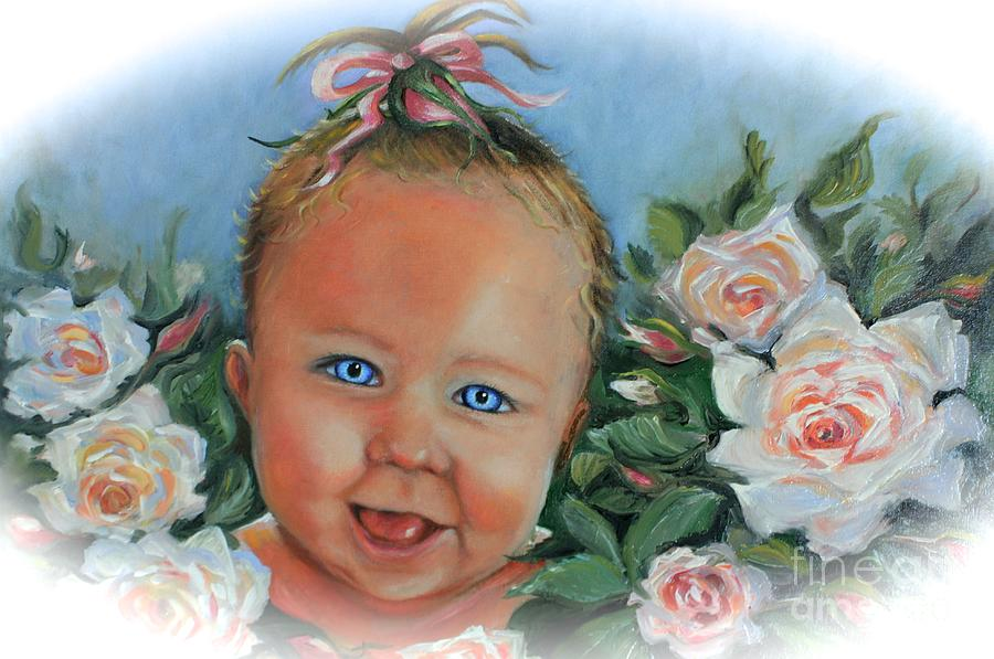 Baby Blue Eyes by Yvonne Ayoub